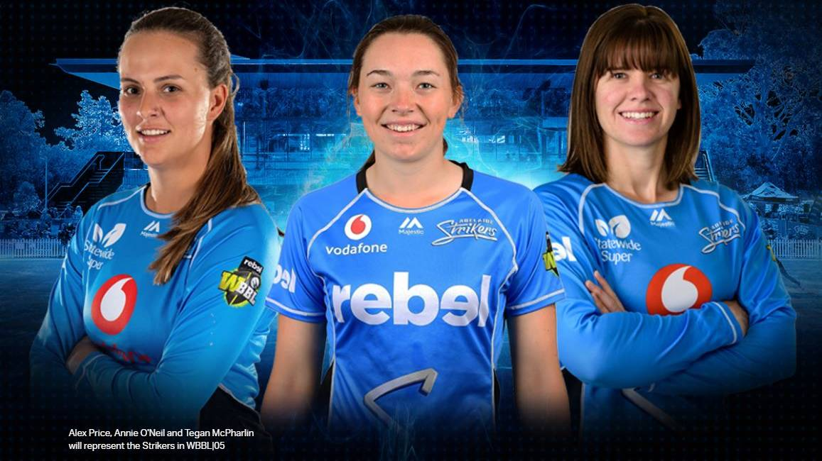 SIGNED: Alex Price, Annie O'Neil, Tegan McPharlin all re-signed with the Strikers for another term.