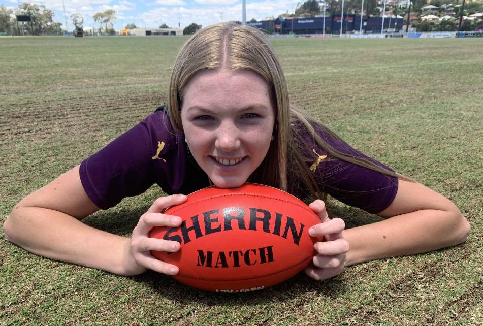 Promising ruck Ally Morphett is one of the players chosen in the Giants Academy female squads. Photo: Jon Tuxworth