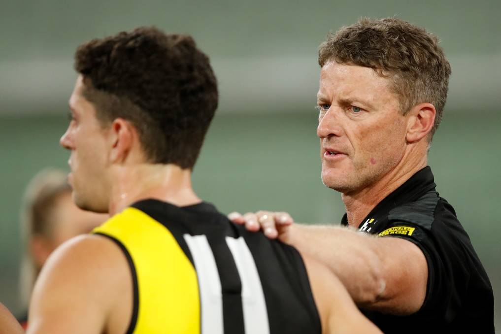 Led by premiership coach Damien Hardwick, the experienced Richmond side will be better positioned than those teams which have undergone significant change. Photo: Dylan Burns/AFL Photos via Getty Images