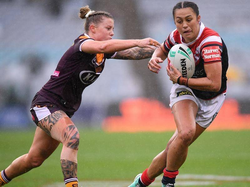 Corban McGregor (r) is expected to move to five-eighth for the women's NSW Origin team.