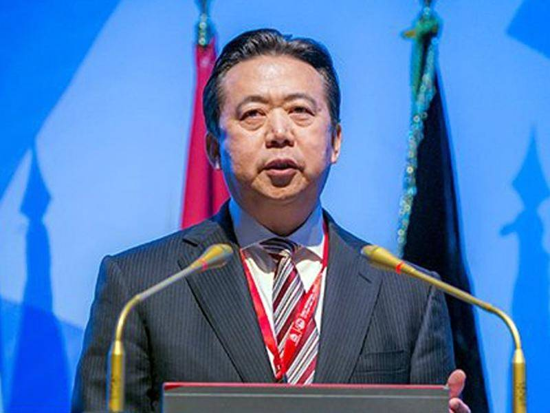 Former Interpol chief Meng Hongwei has admitted to taking bribes, Chinese state media reports.