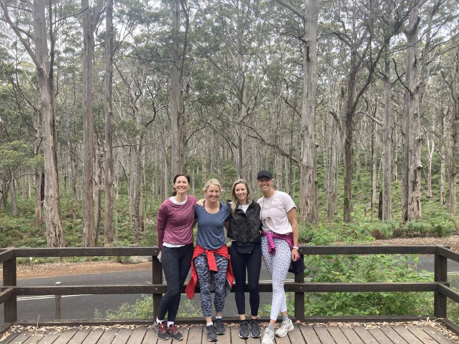Tennis champion Alicia Molik (far right) said she planned to return to the region to complete the entire Cape to Cape Track soon. Photos: Cape to Cape Explorer Tours