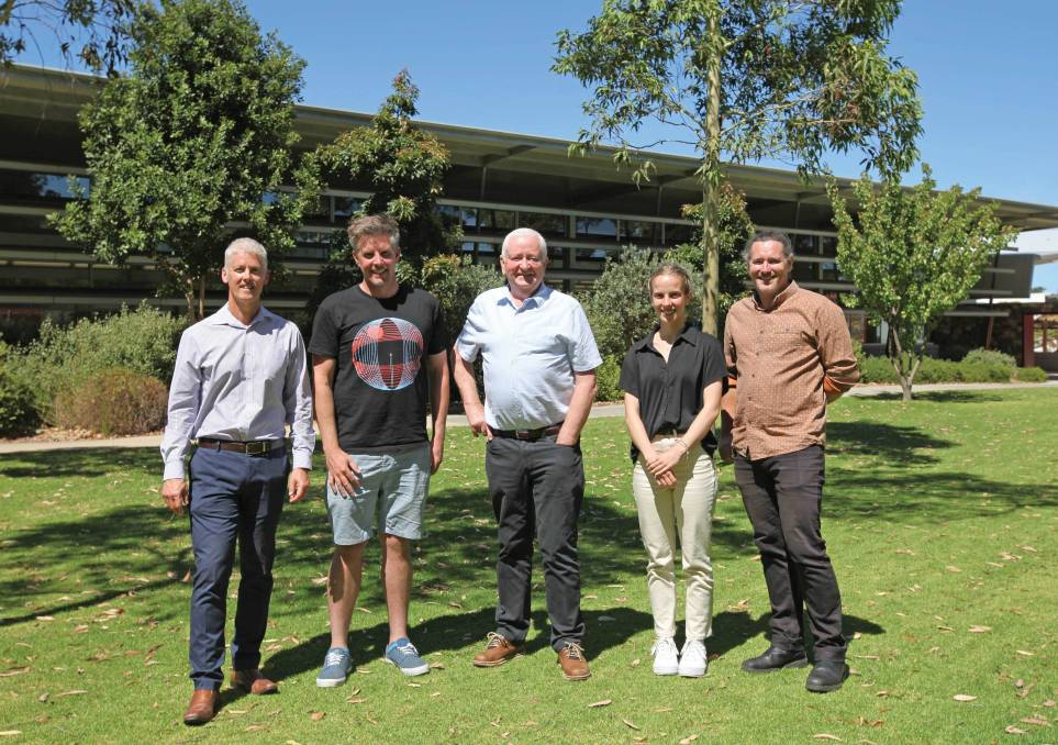 Celebrating success (L-R): Director Corporate and Community Services James Shepherd, Stuart MacMillan from Creative Corner, Stuart Hicks from Mindful Margaret River, Community Development Trainee Shannon Walker and Coordinator Community Planning & Development Jason Cleary.