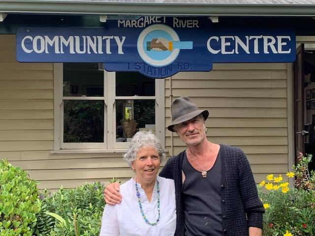 Passionate pair: Lyn Moorfoot and Dave Seegar in the gardens at the Margaret River Community Centre.