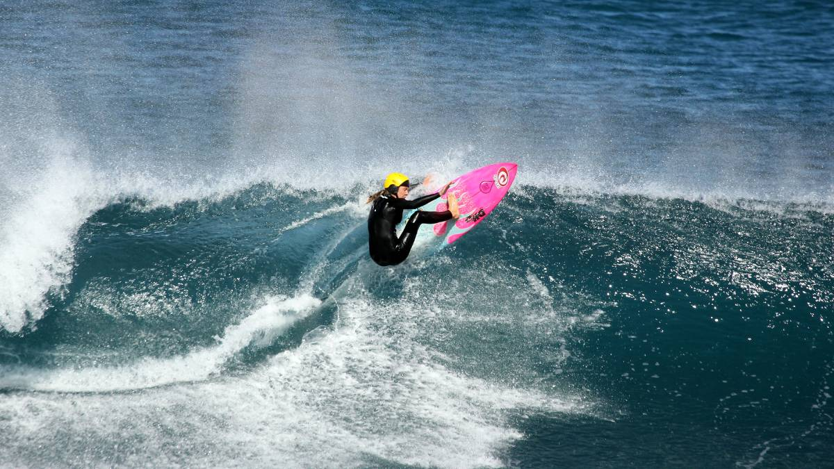 Margaret River's Willow Hardy, who qualified in the Under 16 Cadet Girls category. Photo - Surfing WA/Justin Majeks.